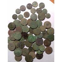 Старые медные монеты
