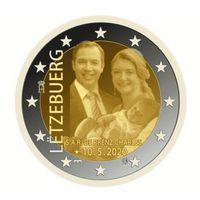 2 евро 2020 Люксембург Рождение Принца Чарльза UNC из ролла фото