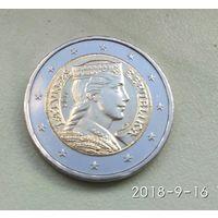 2 евро 2014 Латвия