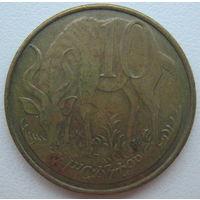 Эфиопия 10 сантимов 2005 г.
