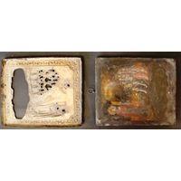 Серебро тяжелый кованный оклад  ок.500гр.., подокладная икона Боголюбская