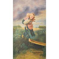 Копия картины К. Е. Маковского. Дети бегущие от грозы х/ м 1951г. 50/87