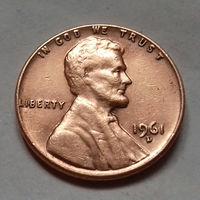 1 цент США 1961 D