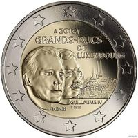 2 евро 2012 Люксембург Великие герцоги Анри и Вильгельм IV UNC из ролла