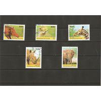 Гвинея 1997 Фауна Африки  5 марок из серии