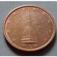 2 евроцента, Италия 2014 г., AU