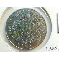 100 франков 1976 года. Западная Африка. Монета А2-6-9