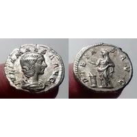 Римская Империя. Юлия Меза, чеканка при Элагабале, 218-220 гг, денарий, с Пиетас на реверсе