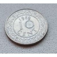 Суринам 10 центов, 1989 6-11-29
