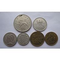 6 монет Европы / Нидерланды,Великобритания ,Польша /.