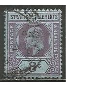 Стрейтс Селтментс. Король Эдуард VII. 1902г. Mi#83.