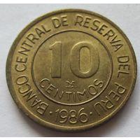 Перу 10 сентаво 1986
