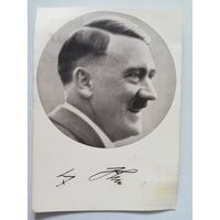 Почтовая карточка - открытка с оригинальным автографом Адольфа Гитлера.