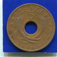 Британская Восточная Африка 5 центов 1943