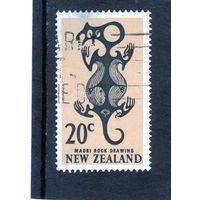 Новая Зеландия. Ми-469. Искусство Маори: Рисунок из Taniwha.1967