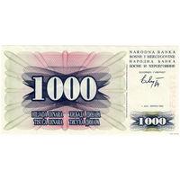Босния и Герцеговина 1000 динаров  1992 UNC