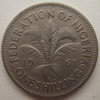 Нигерия 1 шиллинг 1961 г.