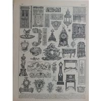 Энциклопедическая гравюра 19в.  LOUIS.  31х23см.
