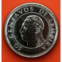 109-01 Гондурас, 50 сентаво 2012 г. Единственное предложение монеты данного года на АУ