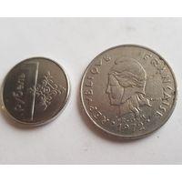 Монета Франция Новая Каледония 20 франков 1972