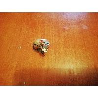 Часы-кольцо чайка. С рубином.