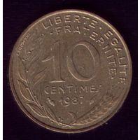 10 сантимов 1987 год Франция