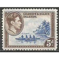 Гилберт и Эллис. Король Георг VI. Каное. 1939г. Mi#44.