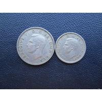 1 шиллинг 1948 и 3 пенса 1949. С 1 рубля