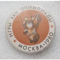 Значок. Олимпийский Мишка. Москва 1980 #0264
