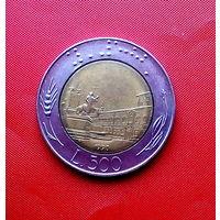91-07 Италия, 500 лир 1990 г.