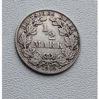 """Германия 1/2 марки, 1905 """"D"""" - Мюнхен  7-10-8"""