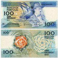 Португалия. 100 эскудо (образца 12.02.1987 года, P179b, подпись 1, XF)