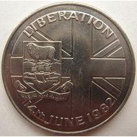 Фолклендские Острова (Фолкленды) 50 пенсов 1982 г.
