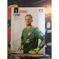 Bernd Leno. Оригинальный автограф.