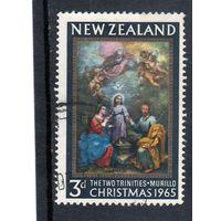 Новая Зеландия. Рождество. Живопись. Картина Мурильо - Две троицы. 1965.