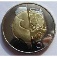 О.Синт-Эстатиус 5 долларов 2013 г