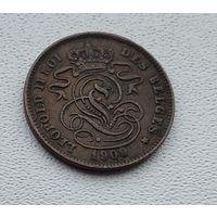 Бельгия 2 сантима, 1909 'DES BELGES' 3-14-45