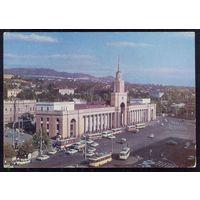 ДМПК СССР 1977 Тбилиси привокзальная площадь автомобили автобусы