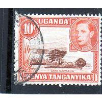 Британские колонии. Уганда,Кения,Танганьика.Озеро Наиваша.10 с.