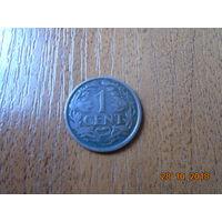 Нидерланды, 1 цент 1921 года.