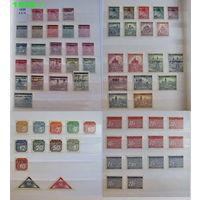 """Рейх, Богемия и Моравия; полная серия 1939-1945 годов, включая марку 1943 года """"Theresienstadt"""" (190 евро); чистые (не гашенные) марки в альбоме; состояние марок: отличное и очень хорошее..."""