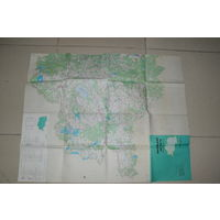 2-х сторонняя карта  Витебской обл.1990 год. масштаб 1:200000.