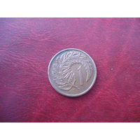 1 цент 1967 год Новая Зеландия