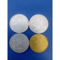 Сборный лот Германия 50 пфенигов 1958 1968 1973     20 пфенигов 1969