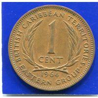 Карибские острова Карибы 1 цент 1964