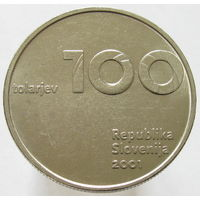 Словения 100 толаров 2001 (2-355) распродажа коллекции