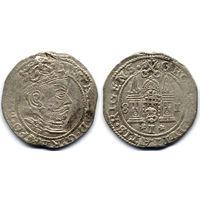 Грош 1581, Стефан Баторий, Рига. Большая голова на аверсе - более редкий вариант, R1!