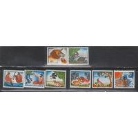 Греция Басни Эзопа фауна 1987 год чистая полная серия из 8-ми марок