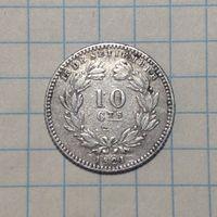 Никарагуа 10 сентавос 1890г серебро