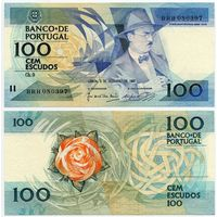 Португалия. 100 эскудо (образца 03.12.1987 года, P179d, подпись 1, UNC)